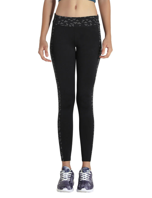 Ruching Luminous Panel Yoga Legging Black Unique Fashion