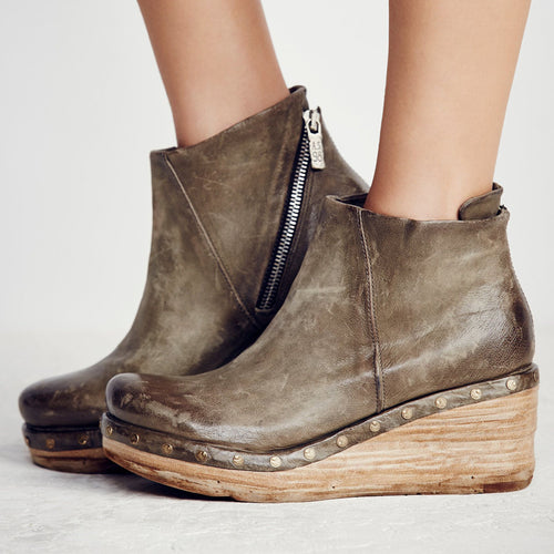 Warm Wedge Platform Boots