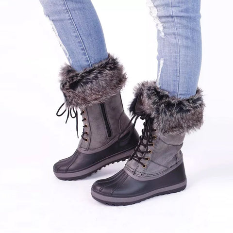 Platform Mid-Calf High Quality Snow Boots