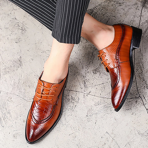 Pointed Lace Up Formal Shoes