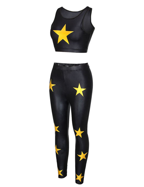 Shop Star Pattern Wireless Bra Vest Ladies Sportswear