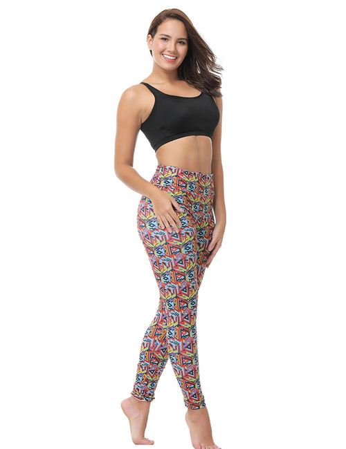 Silhouette Printed Ankle Length Pants Forward Women