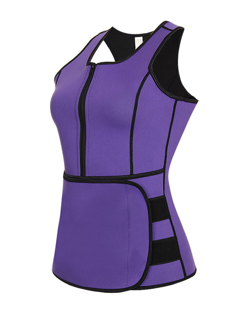 Simplicity Plus Zipper Neoprene Body Shaper Elastic