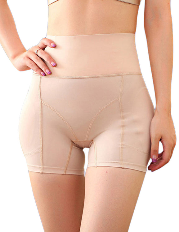 Sleek High Waist Buttock Lifting Panties Wide Waistband Plus Size Tummy Training