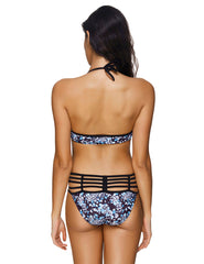 Slinky Flower Pattern Underwired Large Size Bathing Suits Summer Time