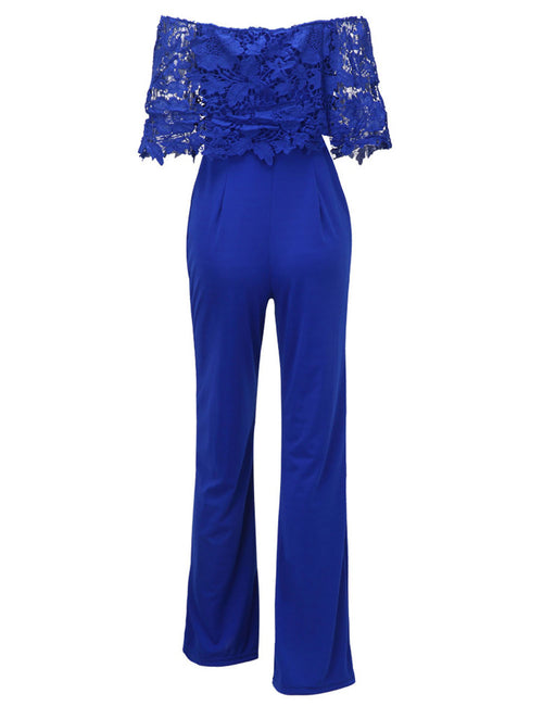 Sparkly No Straps Seamless Ruffle Top Jumpsuit Feminine Elegance