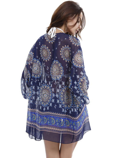 Splendid Print Kimono Beach Cover Up Fashion Shopping