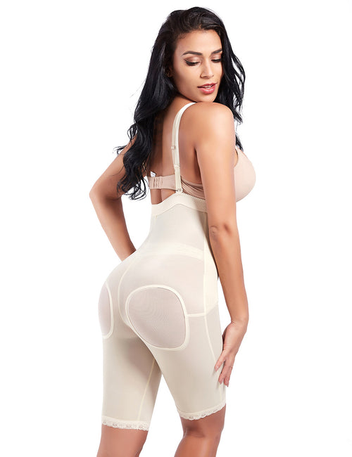 Strengthen Detachable Straps Zipper Firm Control Bodysuit Feminine Grace