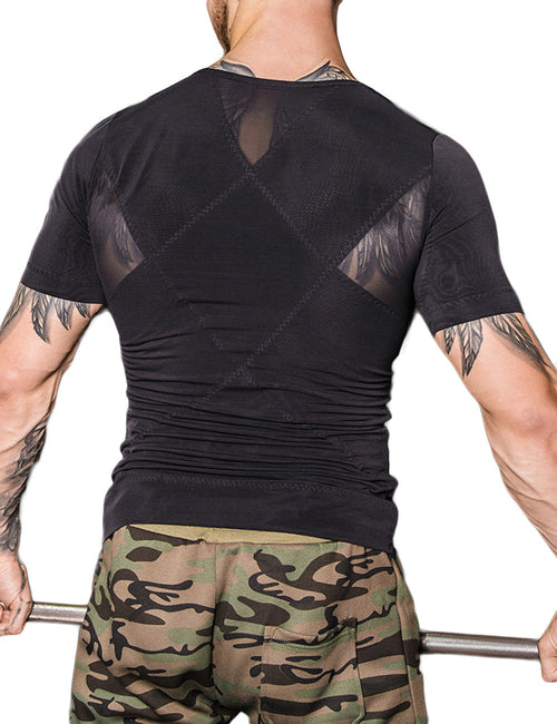 Strengthen Rhombic Double-Layer Male Shaper Pull Back Body Trimmer