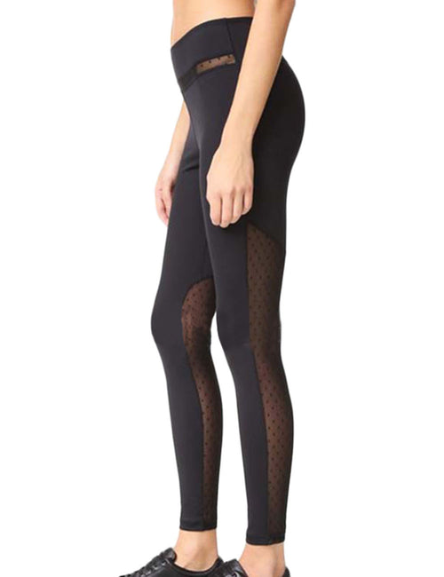 Striking Splicing Mesh Workout Leggings Women