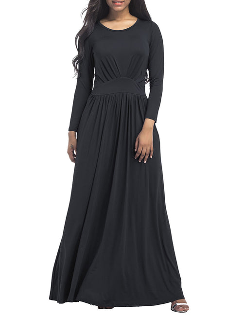 Stunning Big Full Sleeves Plus Size Maxi Dress For Holiday