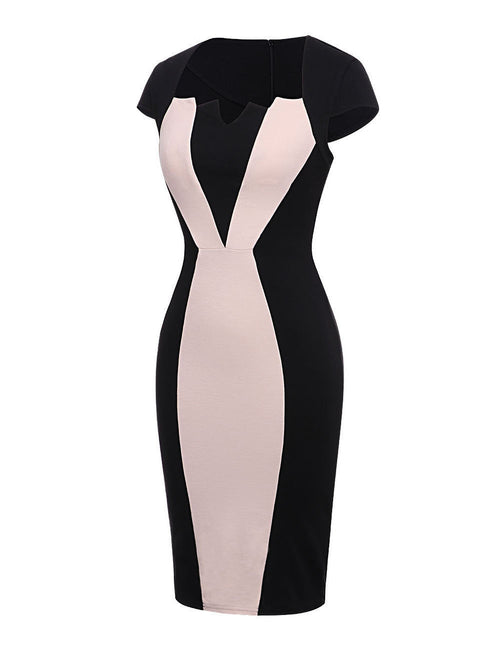 Summary Small V Collar Bodycon Dress Invisible Zipper Cool Fashion