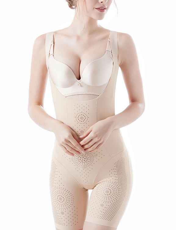 Thermo Heating Seamless Large Bodysuits Full Anion Dots Best Tummy