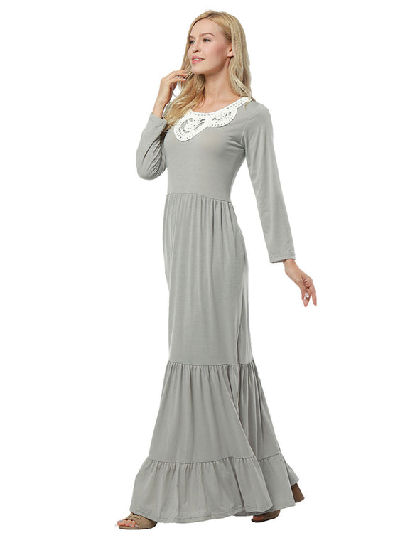 Ultimate Comfort Tiered Maxi Dress Pocket Detailing Casual Fashion