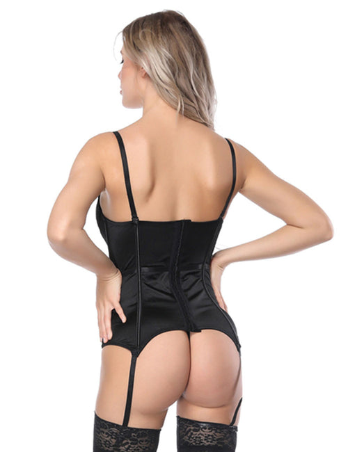 Ultimate Slimmer Cami Straps Overbust Corset With Lace Cellulite Reducing