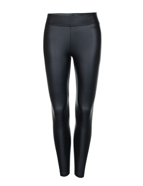 Unvarnished Thickened Leather Leggings Mid Waist For Traveling