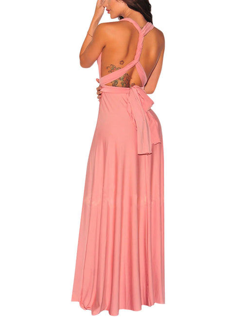 Versatile Fit Cheap Long Prom Dresses Convertible Wide Straps Female Grace