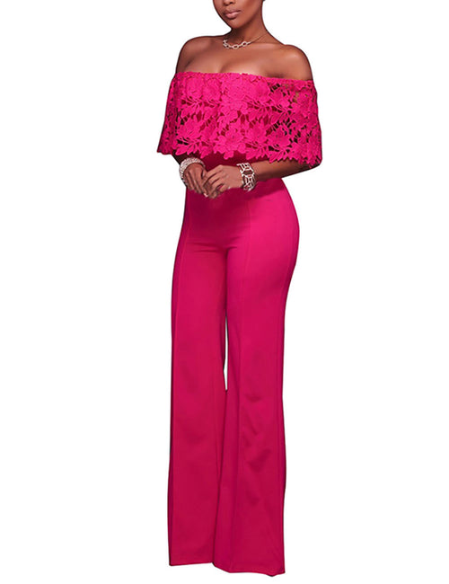 Vintage Floor Length No Seam Bandeau Neckline Jumpsuit Womens Designer Clothing