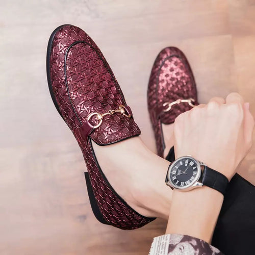 Fashion Soft Men Loafer Grid Anti-Skid Round Toe
