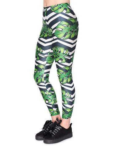 603f16543d078 Zealous Mid Rise Palm Print Workout Legging For Holiday. $20.59. Artisan  Long 92 Polyester 8 Spandex Leggings Women Fashion