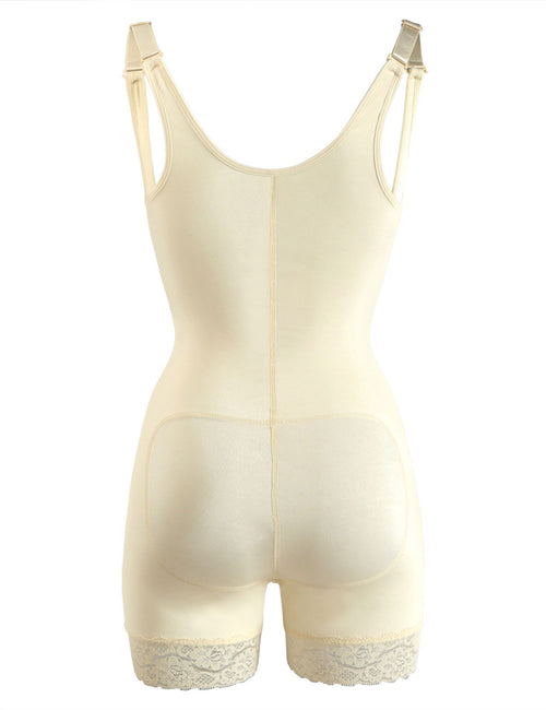 Zip Hooks Latex Open Crotch Body Shaper Big Size Curve Smoothing