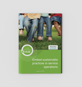 Embed sustainable practices in service operations