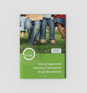 Use an approved learning framework to guide practice