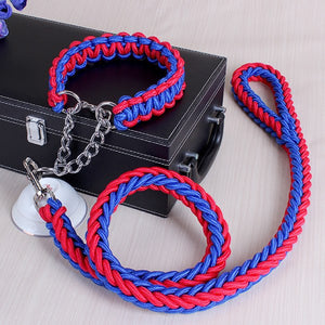 Dog leash for dog collar rope upgraded color collar stereotyped rope big dog leashes pet supplies accessories for large dogs