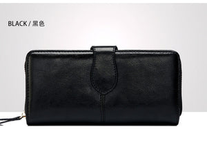 COWATHER 2017 Women purse New fashion cow genuine leather for women,long style design wallet 6 color quality original brand