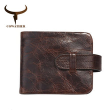 COWATHER men wallets 100% TOP cow genuine luxury leather high quality men purse vintage designer male purse original brand