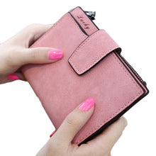 Fashion Small Female Purse short purse Lady Letter Snap Fastener Zipper Short Clutch Wallet Solid Vintage Matte Women Wallet#