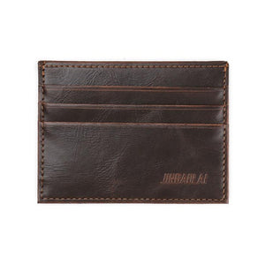 JINBAOLAI Men Card Holder Business Mens Simple PU Leather skin Credit ID Card Slim Purse Mens Wallet#YHYE