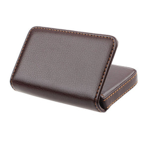 Xiniu Men leather card holder Exquisite Magnetic Attractive Card Case for Men portefeuille homme #YW