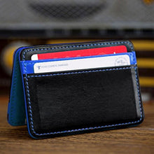 Fashion Women Purse Men Card Package Mini Neutral Magic Bifold Leather Wallet Holder Card Case Wallets tarjetero mujer#YHEL