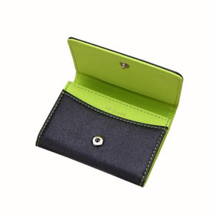 Flama Wallets Men Leather Card Cash Receipt Holder Organizer Bifold Wallet Purse carteras mujer sacoche homme #JYYW