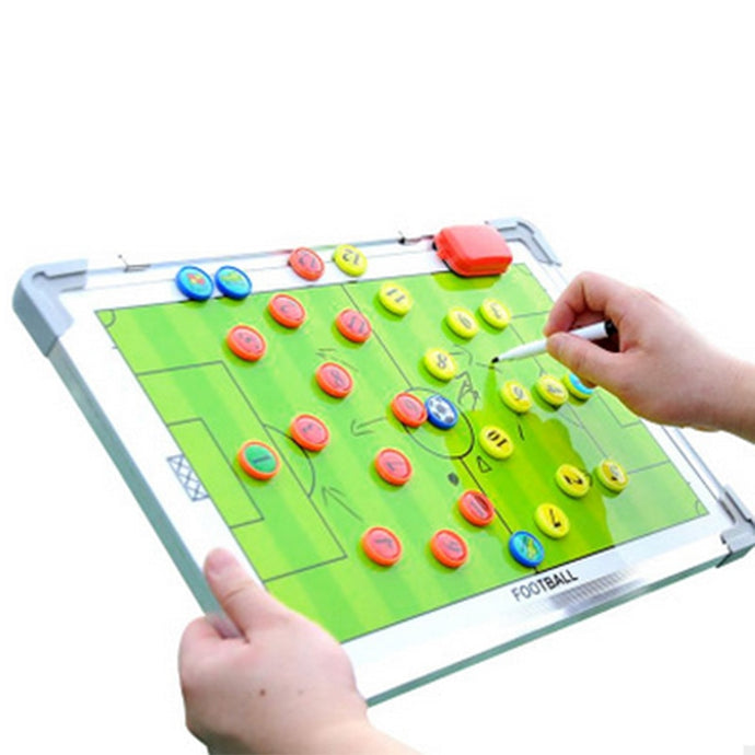 Protable Aluminum Alloy Football Soccer Magnetic Teaching Tactical Coaching Board B2Cshop