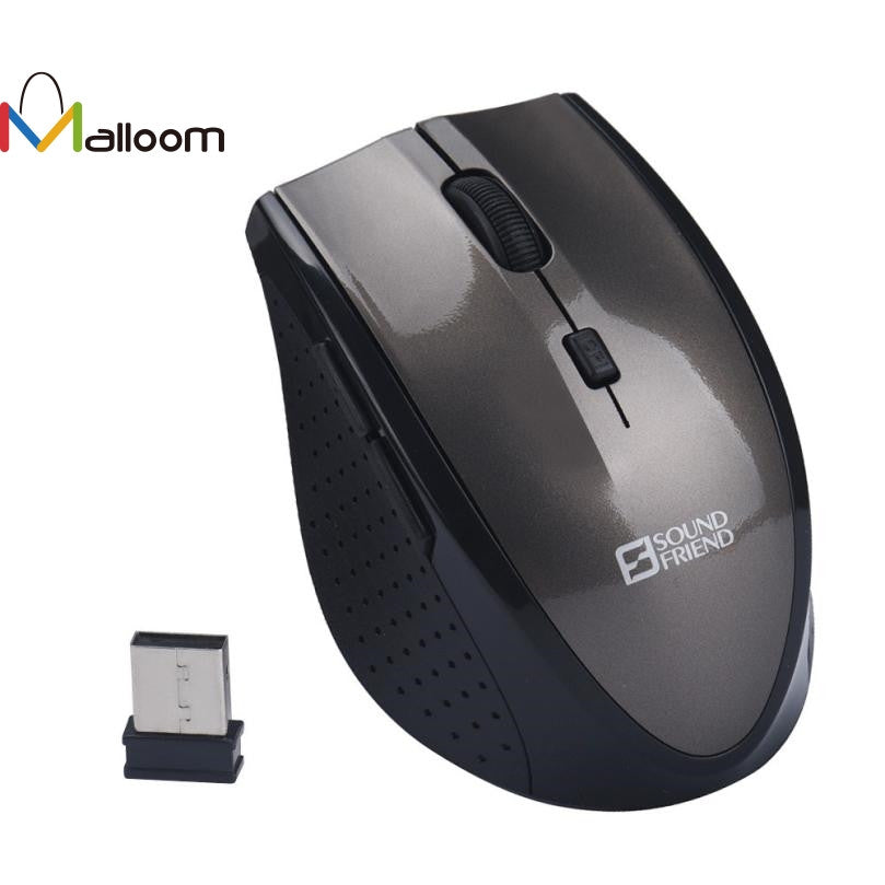 Malloom Best Gaming Mouse Optical Positioning Finger mouse 2.4Ghz Wireless Battery 10m Distances 3200 DPI For Computer Pc Laptop