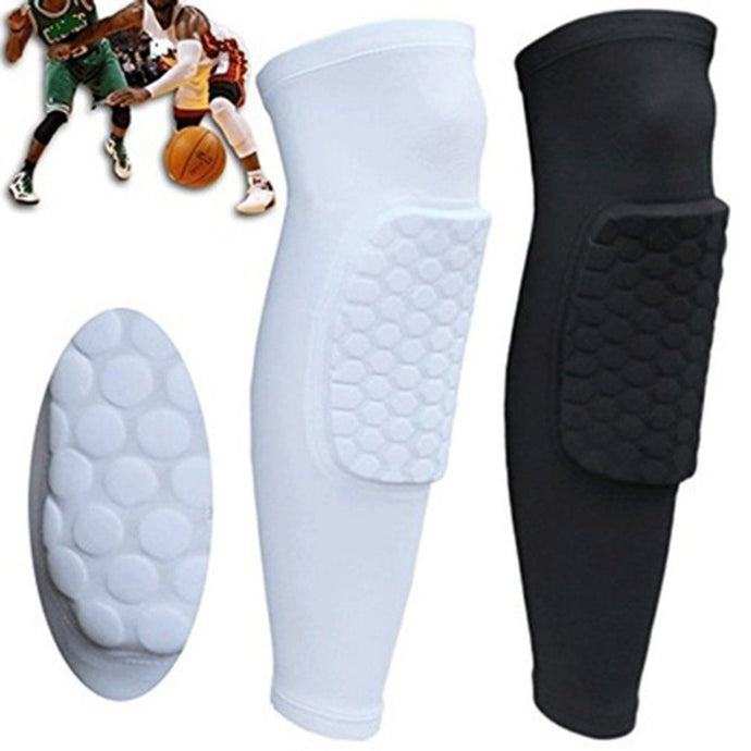 Short Leg Knee Protector Gear Hot Kids Adult Pad Basketball Leg Knee Long Sleeve Protector Gear Crashproof