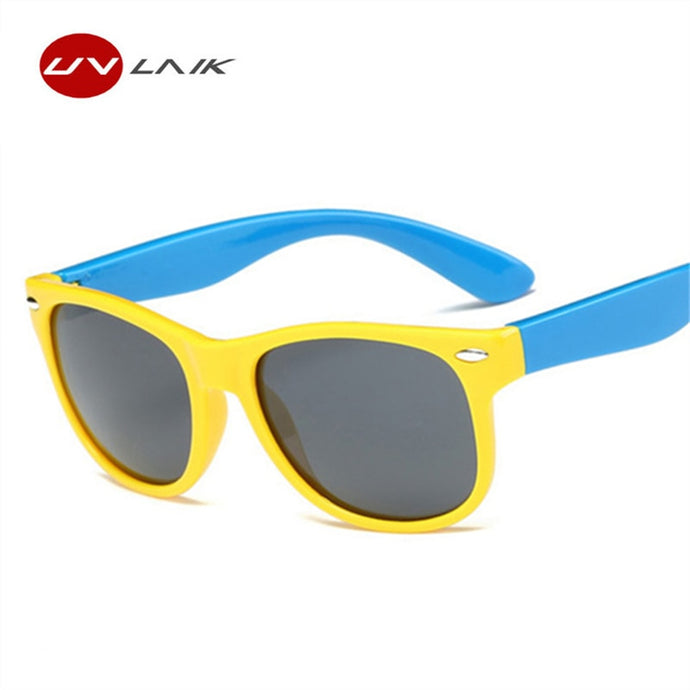 UVLAIK Children Polarized Sunglasses Kids Boys Girls Ultra-soft Silicone Glasses Fashion Child Baby Safety Sun Glasses UV400