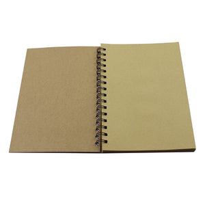 Vintage Kraft Paper A5 Size Spiral Sketchbook Journal Planner Diary Notebook for Students Office Writing Drawing