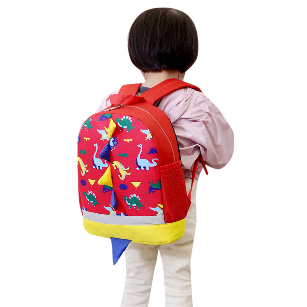 Baby Boys Girls Kids Dinosaur Pattern Animals Backpack Toddler School Bag