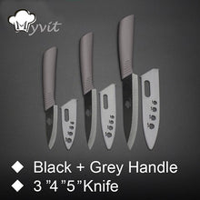 "Kitchen Knives Ceramic Knife 3"" 4"" 5"" 6"" inch Zirconia Japanese Knife Black Blade Paring Fruit Ceramic Chef Knives Cooking Set"