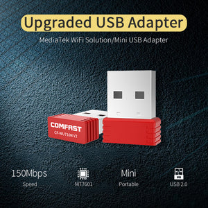 COMFAST CF-WU710N 2.4G 150Mbps USB WiFi Adapter for Laptop Desktop Tablet PC