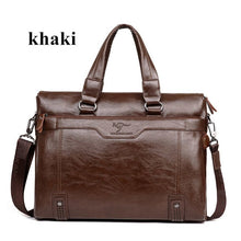 "Men Business Leather Briefcase Shoulder Messenger Bag for 14"" Laptop Men's Crossbody Briefcase Bags man Handbag Messenger bags"