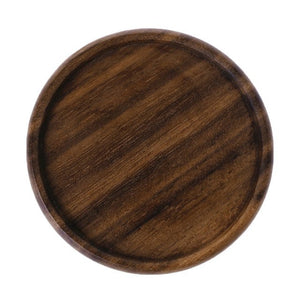 Vintage Durable Wooden Beverage Coasters Anti-slip Cup Mug Mat Table Placemat Tableware Dining Room Table Decoration Accessories