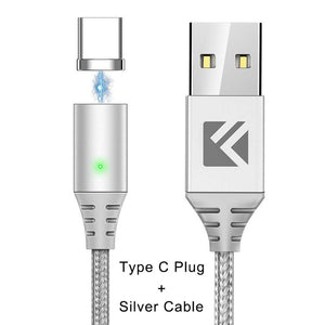 FLOVEME For iPhone 6 5s Lighting Cable Magnetic Type C Micro USB Cable For Samsung Xiaomi Huawei Magnet Charging Cable 3in1 Cabo