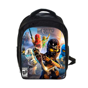 b8935e99014 Kids 3D Cartoon Backpack Lego Boys Girls Backpacks Lego Ninjago Pattern  School Bag Kids Daily Backpacks Best Children s Backpack