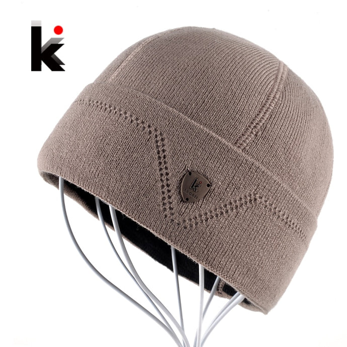 Mens Skullies Gorro Russia Beanie Touca Inverno Plus Velvet Hat Knitted Caps Bonnet Winter Cap Hats Beanies For Men