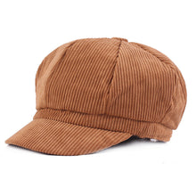 Cotton Newsboy Beret Cap For Men Women Autumn Winter Caps Fashion Octagonal Artist Painter Hat Striped Casual Solid Gatsby Hats