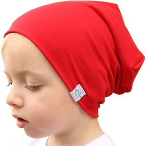 Crown Beanies Autumn Hats For Boys Girls Slouchy Beanie Baby Kids Cap Children Spring Knitted Cotton Hat Skullies Baggy Caps